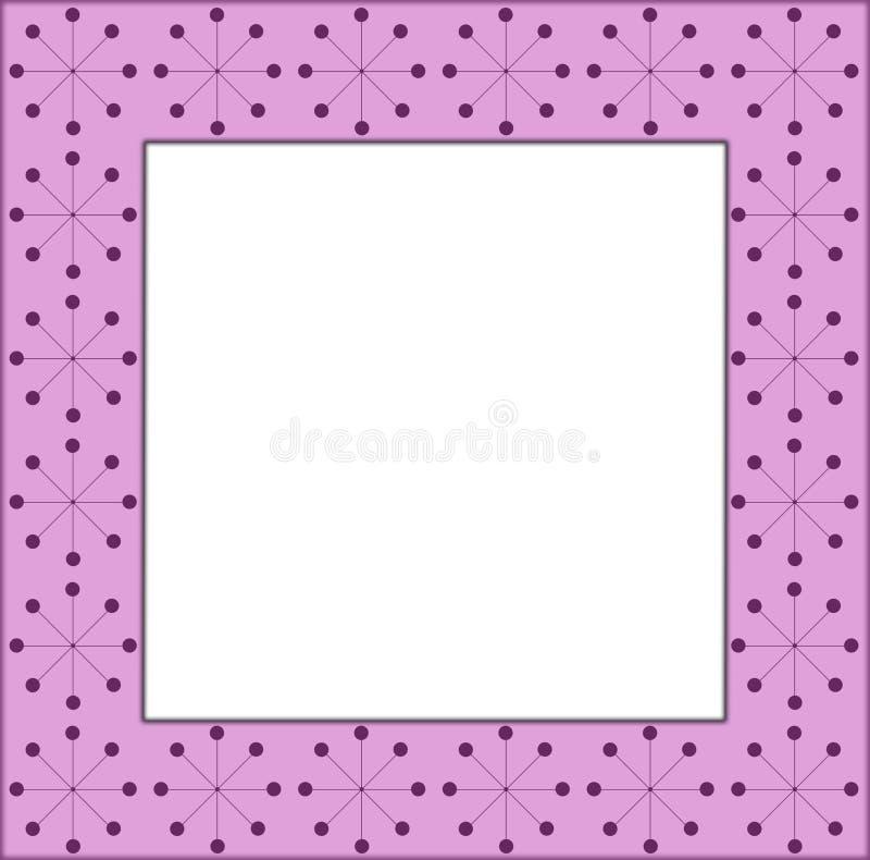 Quadro cor-de-rosa imagem de stock