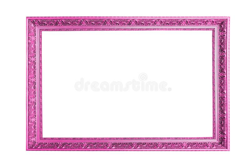 Quadro cor-de-rosa bonito isolado no fundo branco foto de stock royalty free