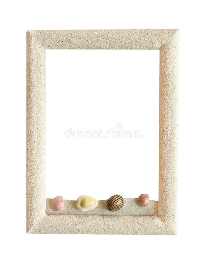 quadro da areia isolada no branco para a decoração fotografia de stock royalty free