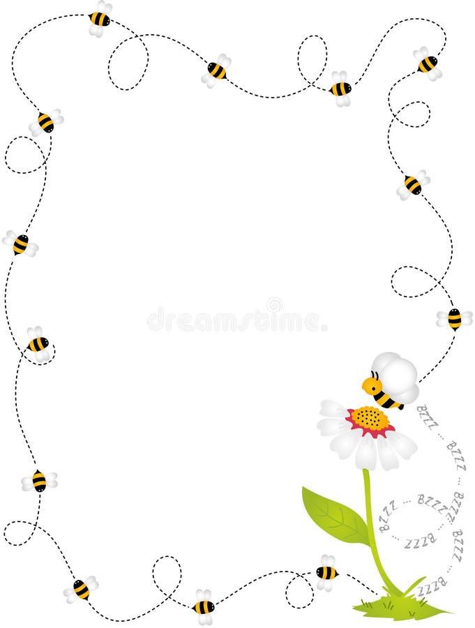 Quadro da beira da abelha ilustração do vetor