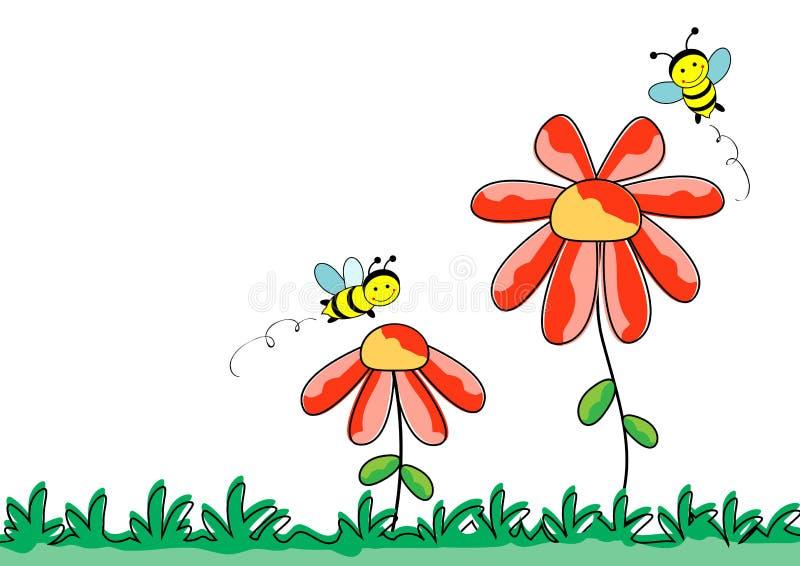 Quadro da beira da abelha ilustração stock