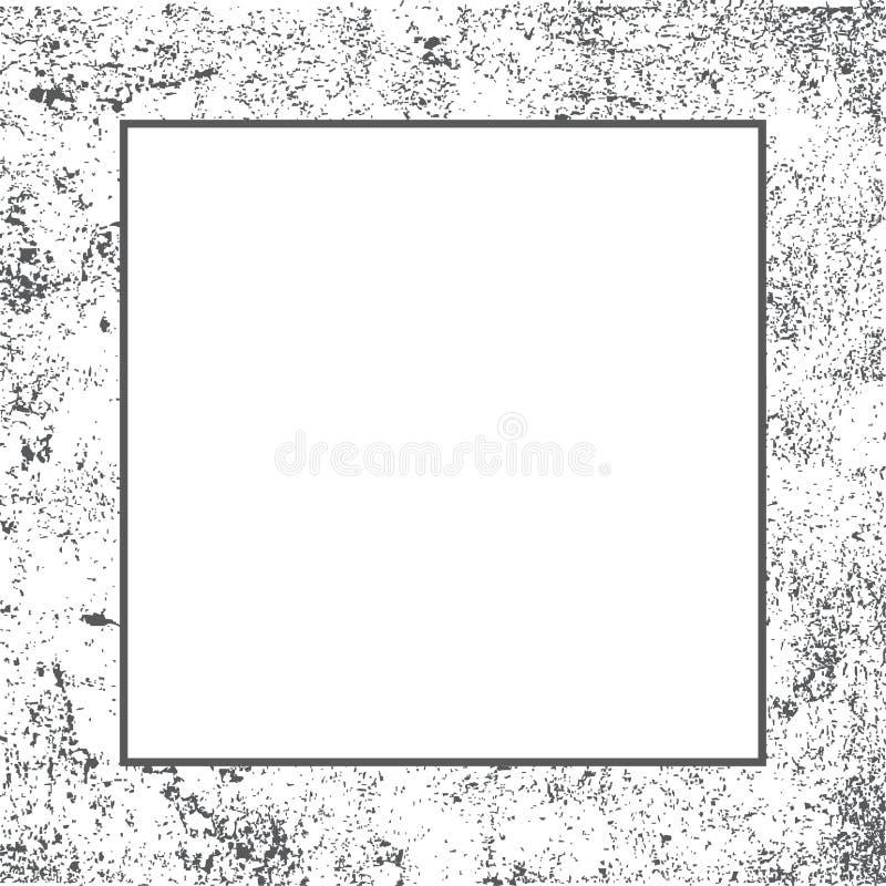 Quadro da beira da textura do Grunge ilustração stock