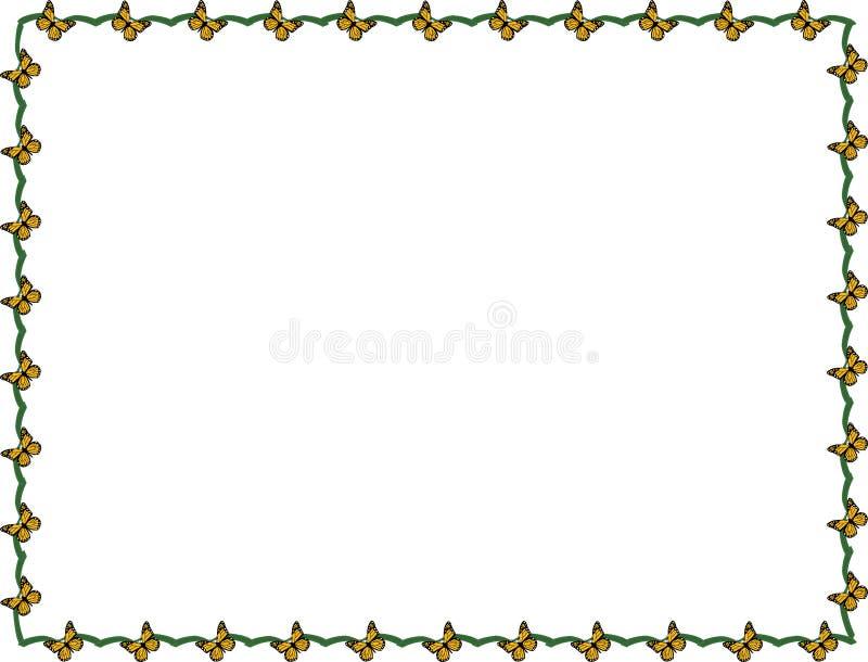 Quadro da borboleta ilustração royalty free