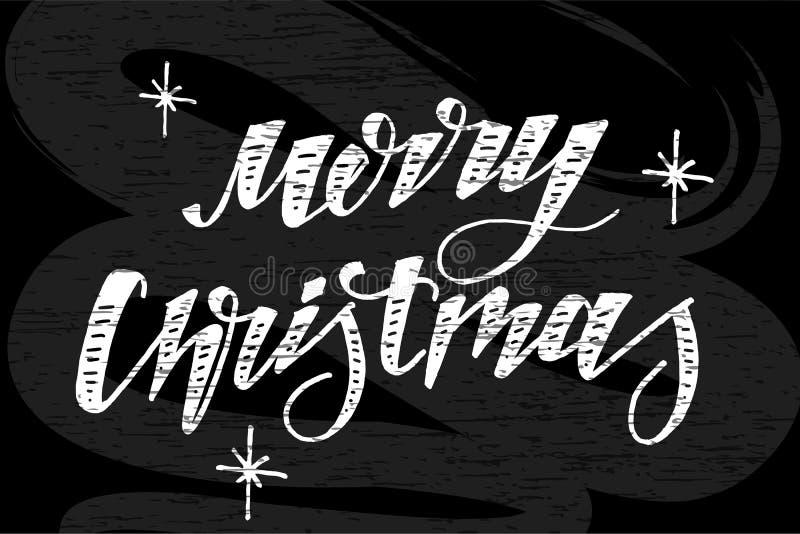 Quadro da escova da caligrafia da rotulação da frase do vetor do Natal ilustração do vetor