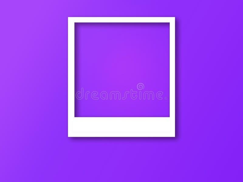 Quadro da foto com espa?o para o texto e a sombra macia ilustração do vetor