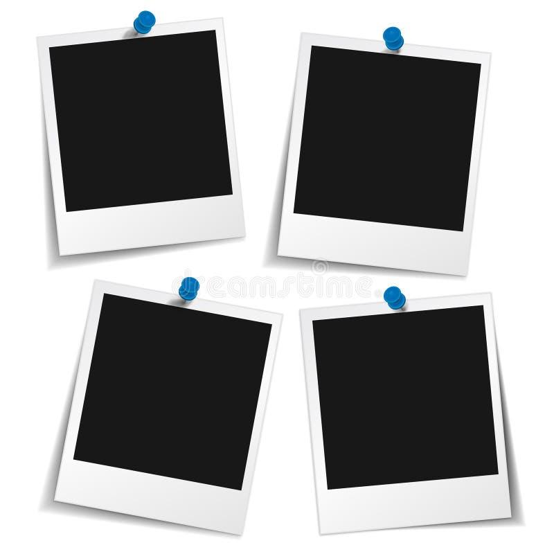 Quadro da foto com Pin do impulso ilustração stock