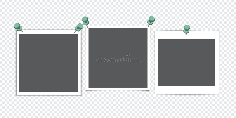 Quadro da foto com sombra Grupo de quadro da foto Objeto isolado no fundo transparente Ilustração do vetor ilustração royalty free
