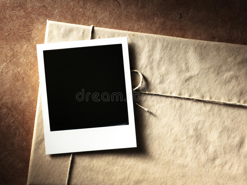 Quadro da foto do estilo do Polaroid fotografia de stock royalty free