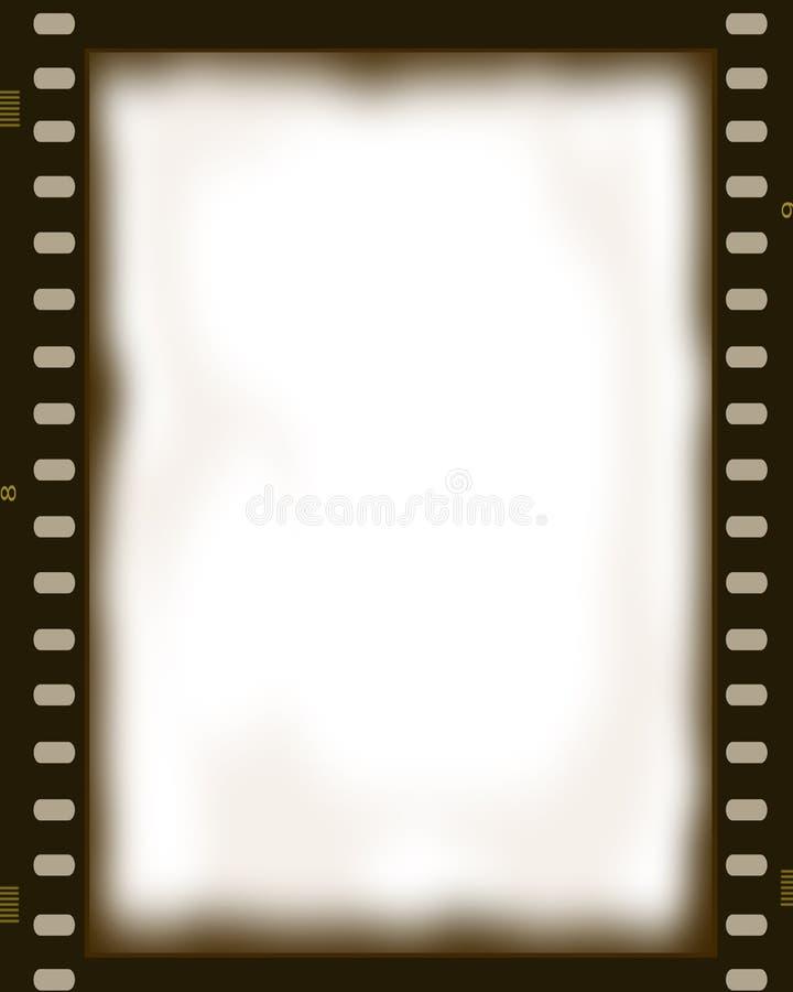 Quadro da foto do negativo de filme ilustração do vetor