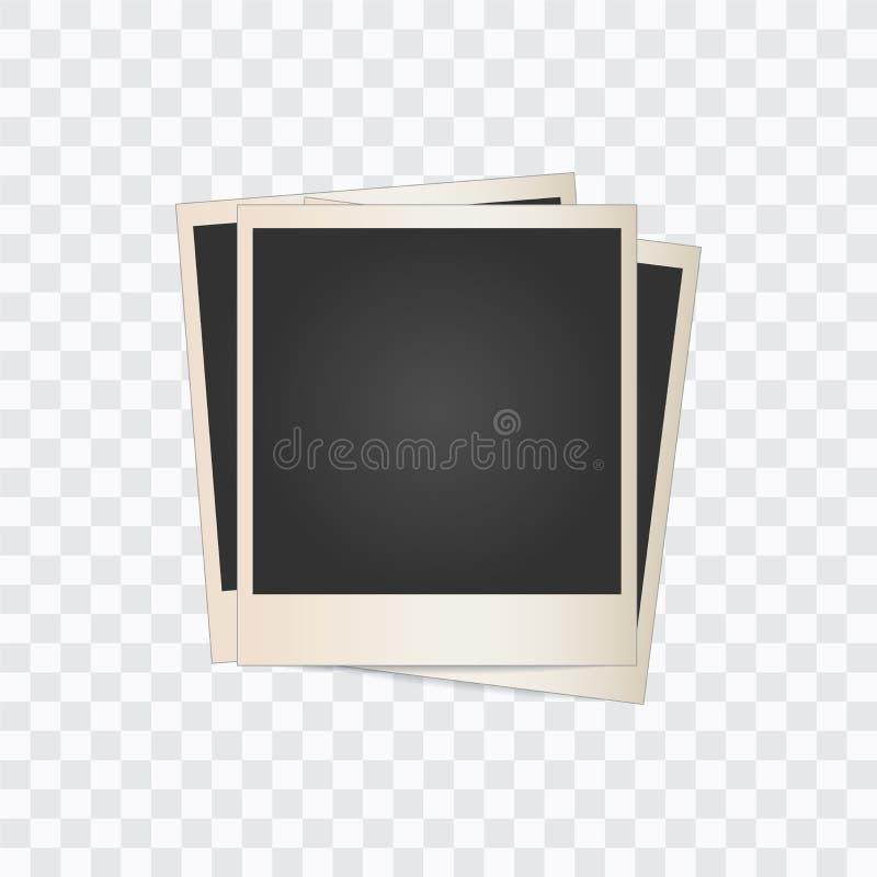 Quadro da foto em um fundo transparente Vetor ilustração stock