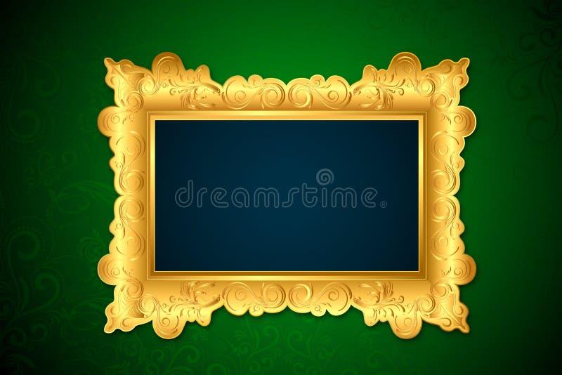 Quadro da foto na parede ilustração royalty free
