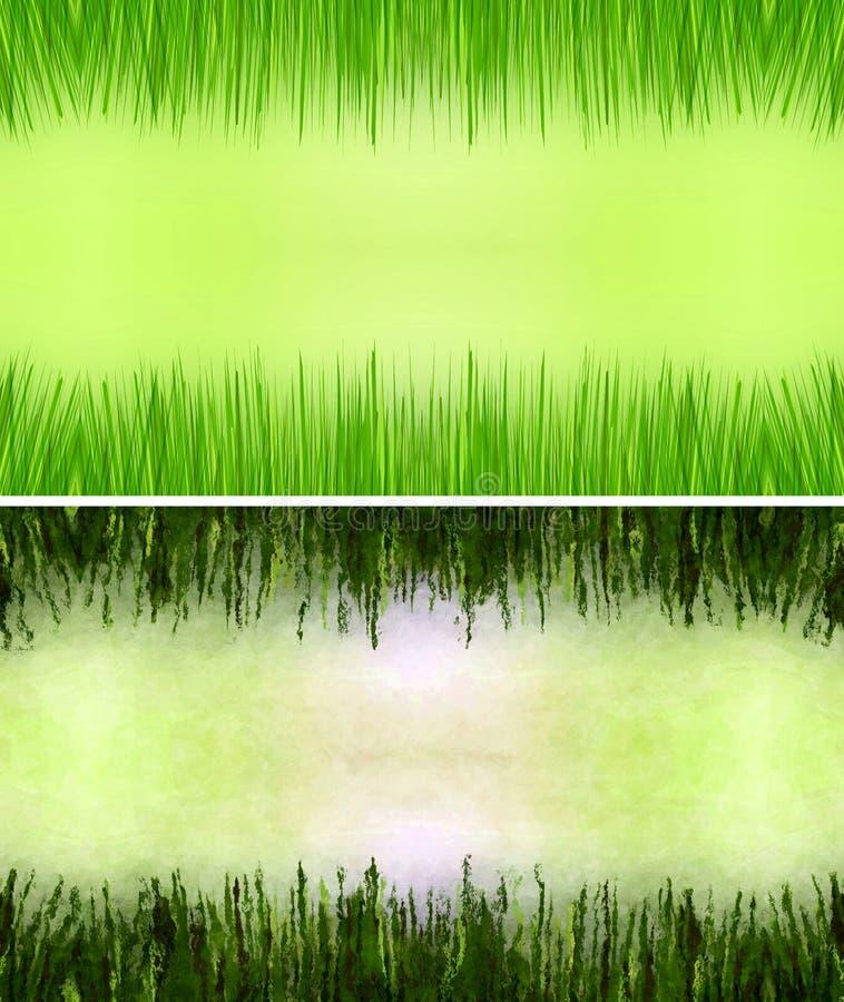 Quadro da grama ilustração do vetor