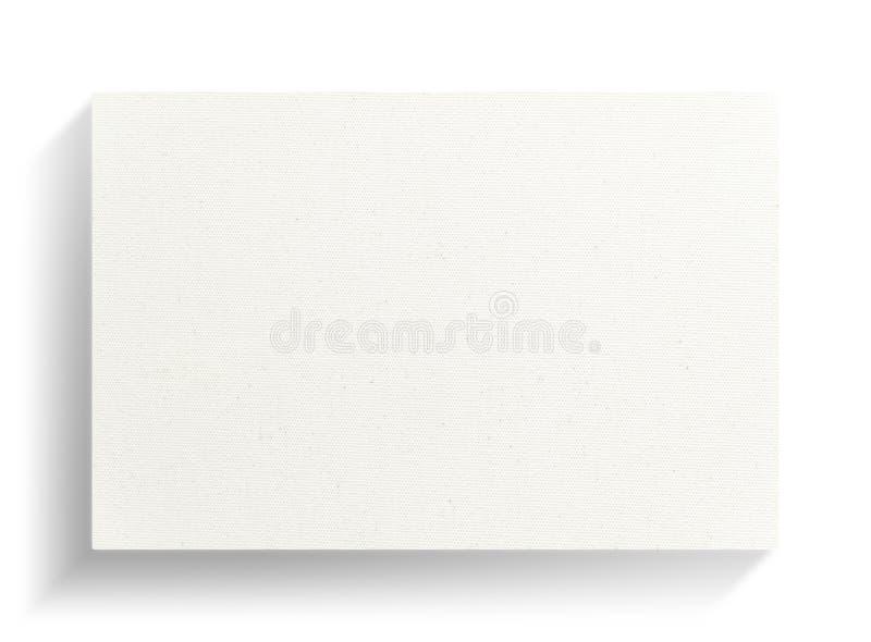 Quadro da lona no fundo branco com sombra macia ilustração do vetor
