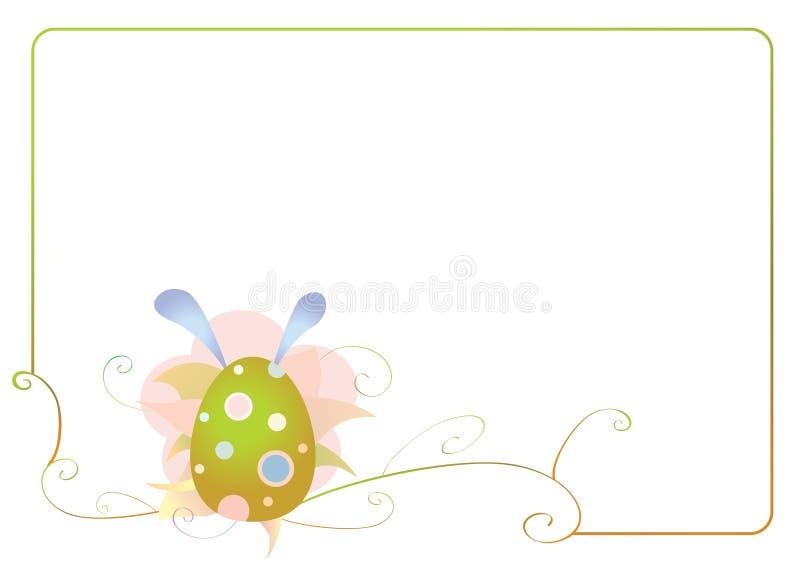 Quadro da Páscoa com ovos imagens de stock royalty free