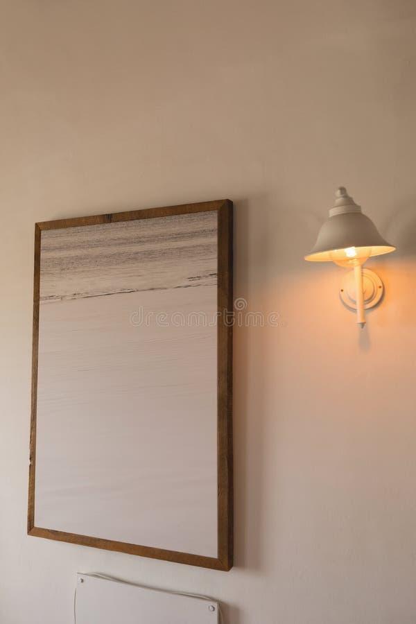 Quadro da parede em casa fotos de stock