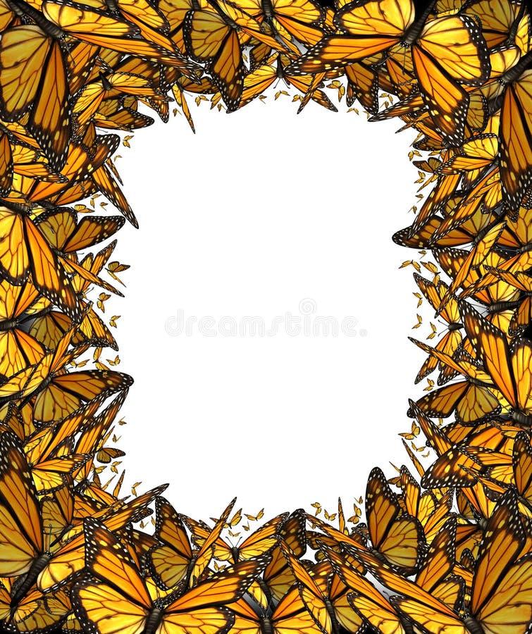 Quadro da placa da beira da borboleta ilustração do vetor