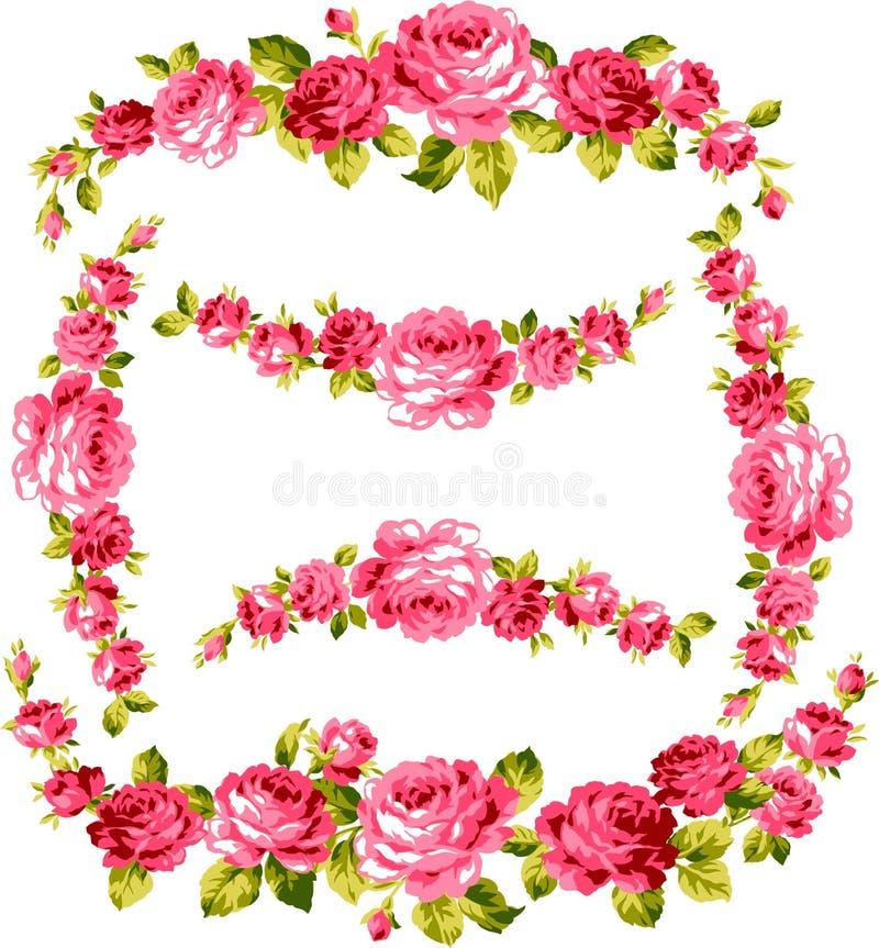 Quadro da rosa ilustração do vetor