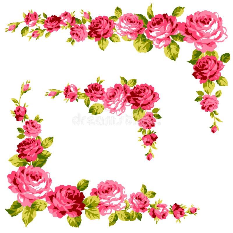 Quadro da rosa ilustração royalty free