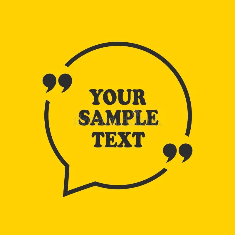 Quadro das citações para o texto da amostra ilustração royalty free