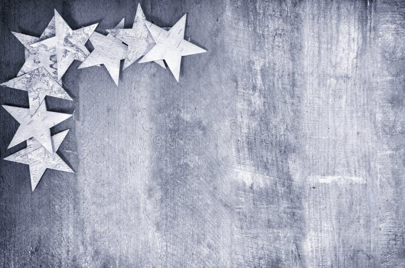 Quadro das estrelas na madeira imagem de stock royalty free