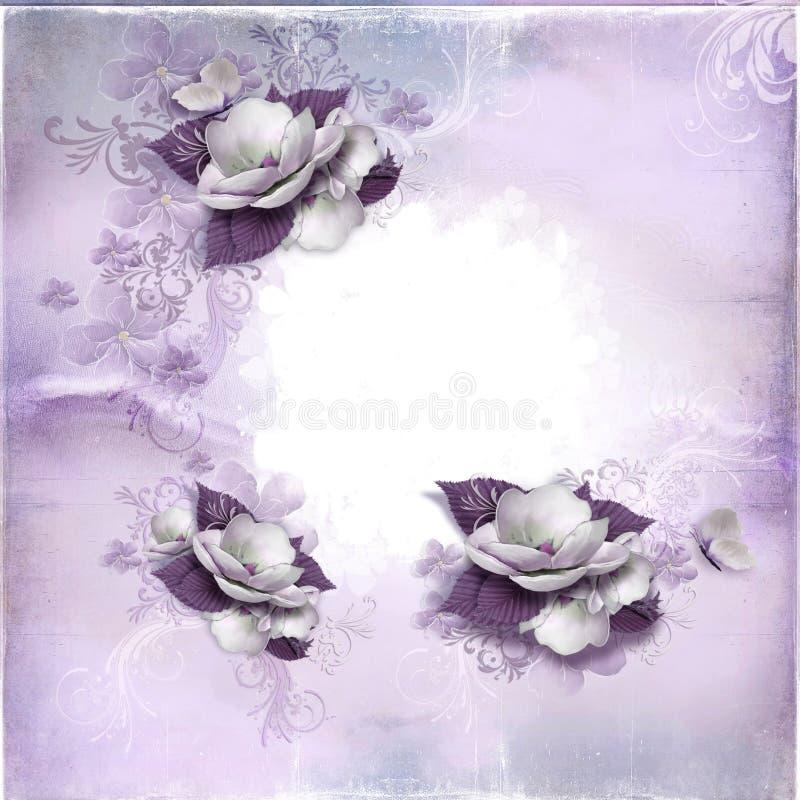 Quadro das flores ilustração stock