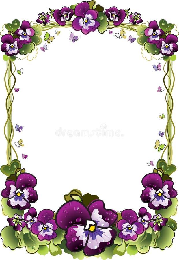 Quadro das flores ilustração royalty free