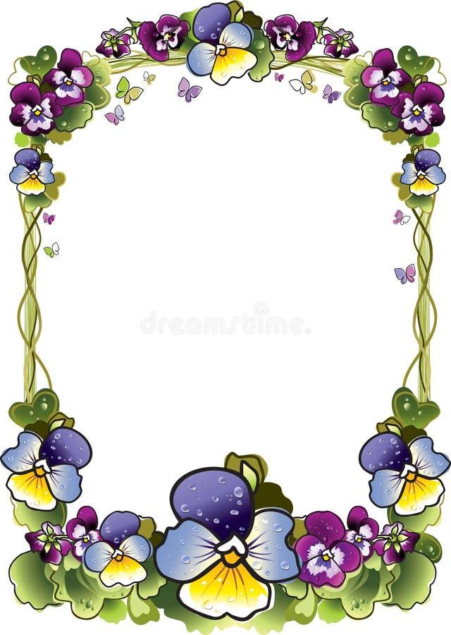 Quadro das flores ilustração do vetor