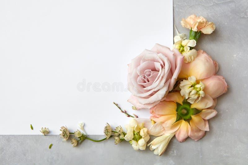 Quadro das flores foto de stock royalty free