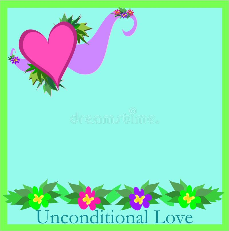 Quadro das flores e do amor incondicional ilustração royalty free