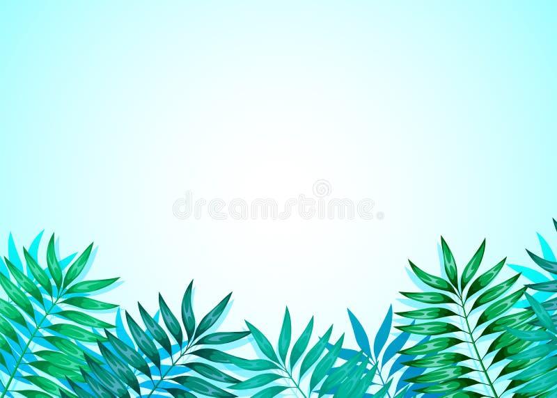 Quadro das folhas tropicais coloridas Conceito da selva para o projeto dos convites, dos cart?es e dos pap?is de parede ilustração stock
