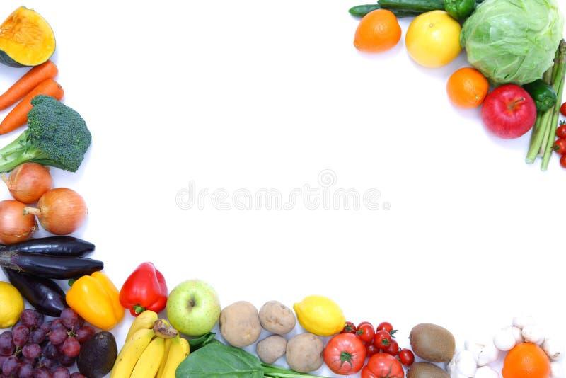 Quadro das frutas e legumes fotografia de stock royalty free