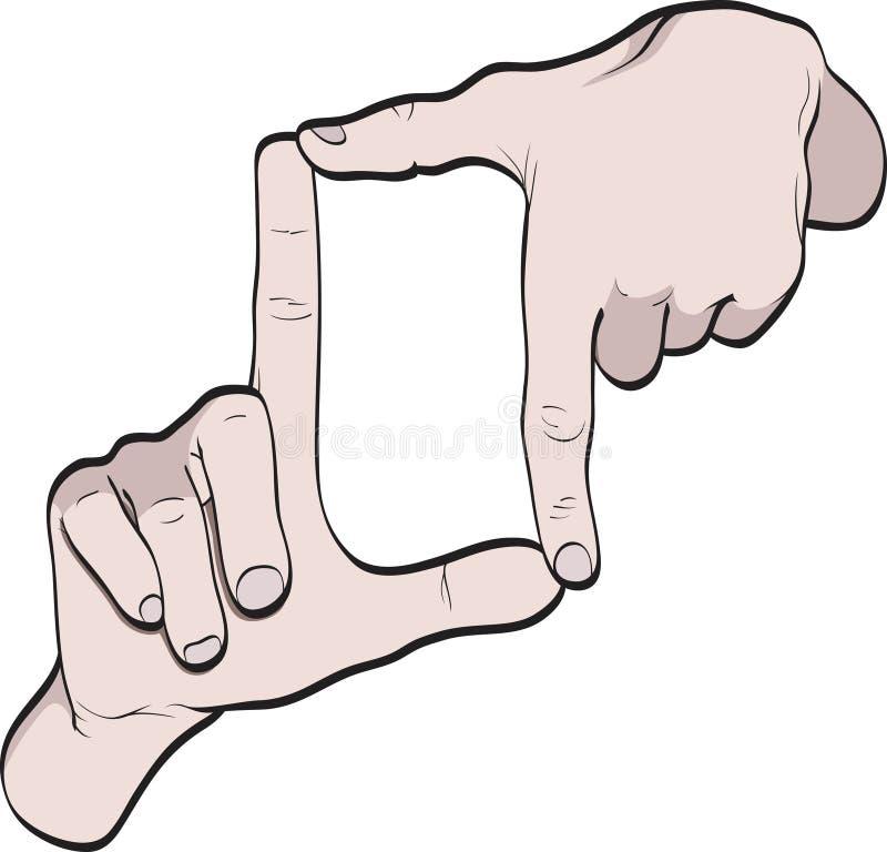 Quadro das mãos ilustração do vetor