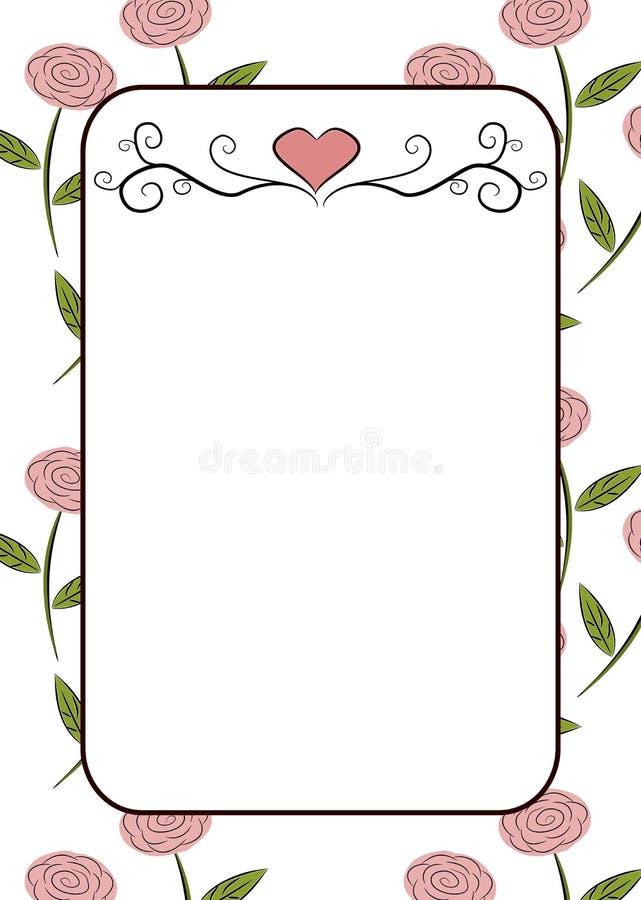 Quadro das rosas ilustração royalty free