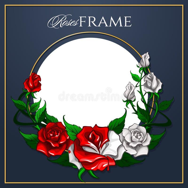 Quadro das rosas ilustração do vetor