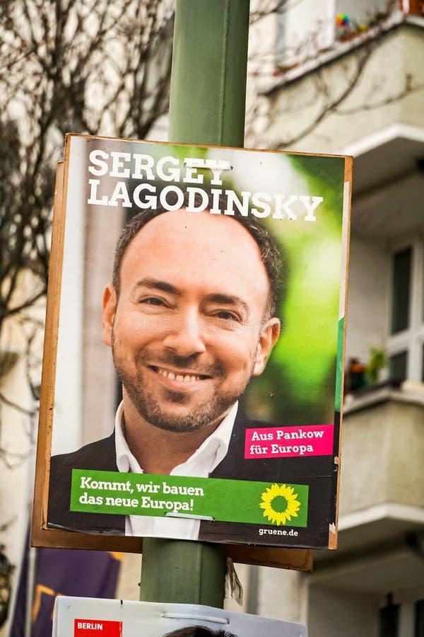Quadro de avisos da campanha eleitoral do partido de verdes de Alliance 90/The foto de stock royalty free