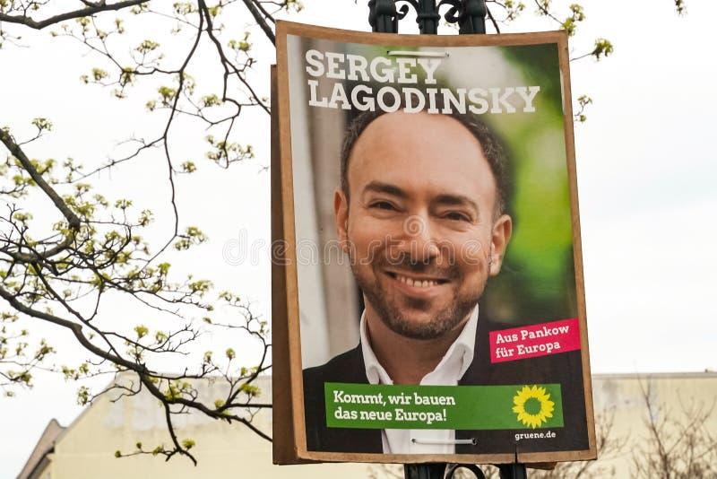 Quadro de avisos da campanha eleitoral do partido de verdes de Alliance 90/The imagem de stock royalty free