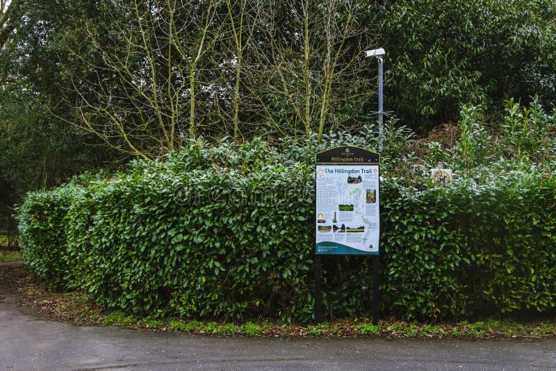 Quadro de avisos da fuga de Hillingdon fotografia de stock