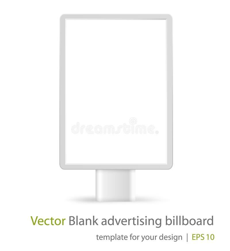 Quadro de avisos de anúncio em branco (lightbox) ilustração do vetor