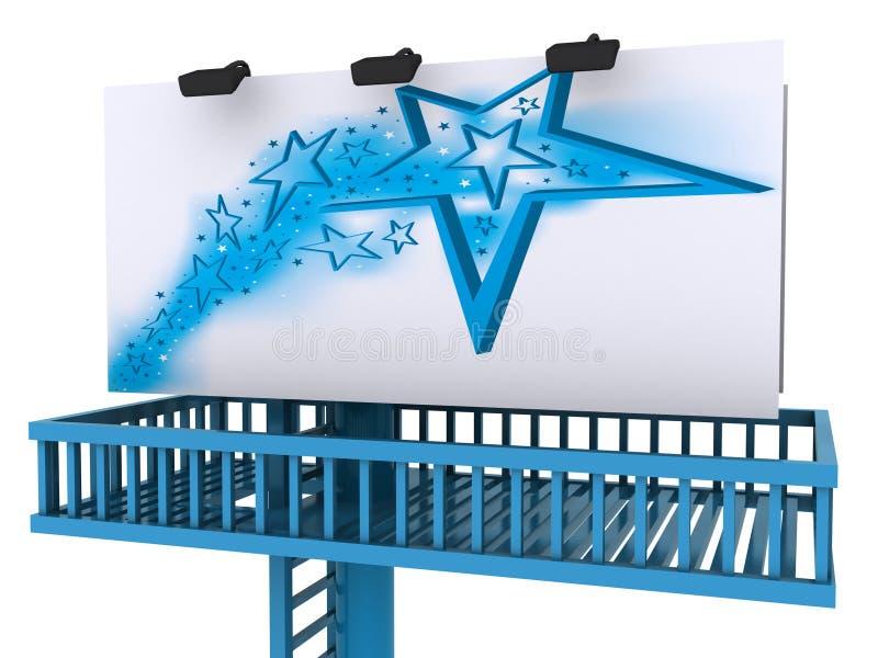 Quadro de avisos do anúncio, bandeira aberta das estrelas da porta da estrela ilustração royalty free