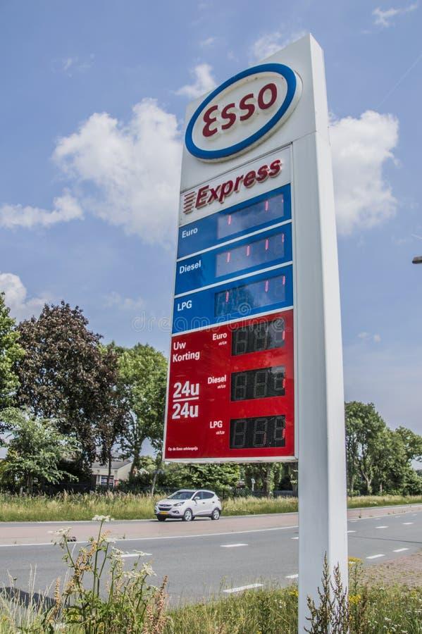 Quadro de avisos do Esso expresso foto de stock royalty free