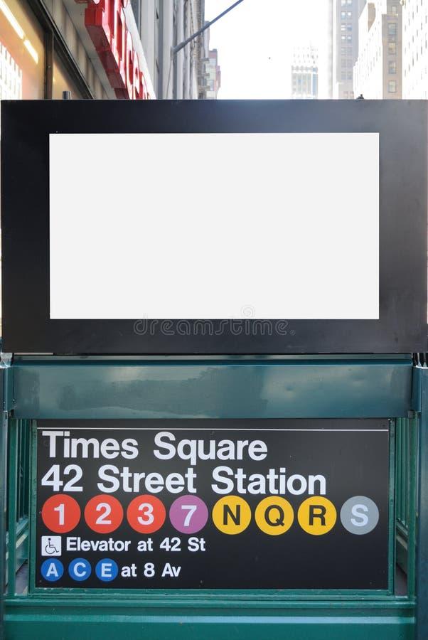 Quadro de avisos do metro de New York City foto de stock royalty free
