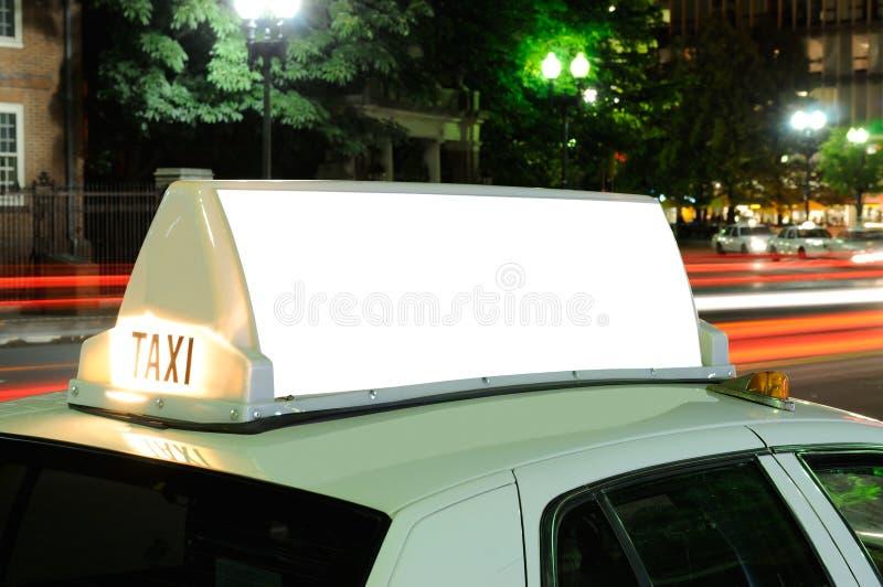 Quadro de avisos do táxi foto de stock