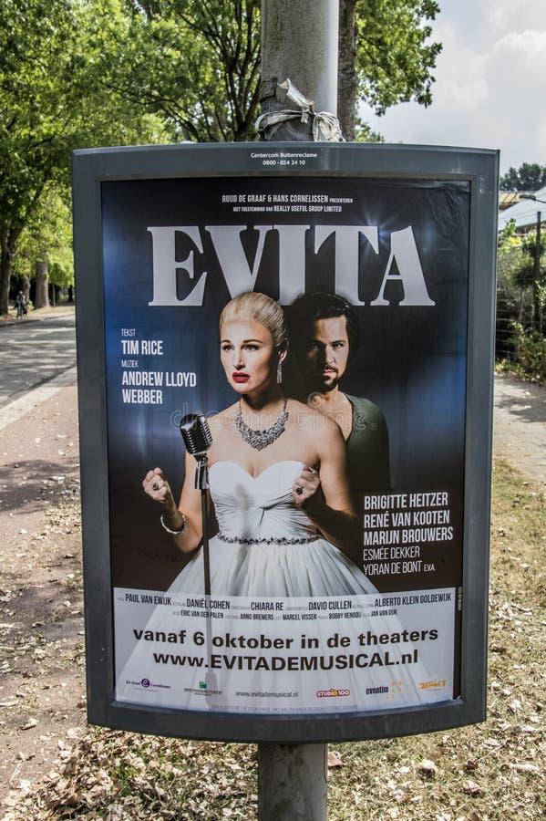 Quadro de avisos Evita At Amsterdam The Netherlands 2018 de Centercom imagens de stock