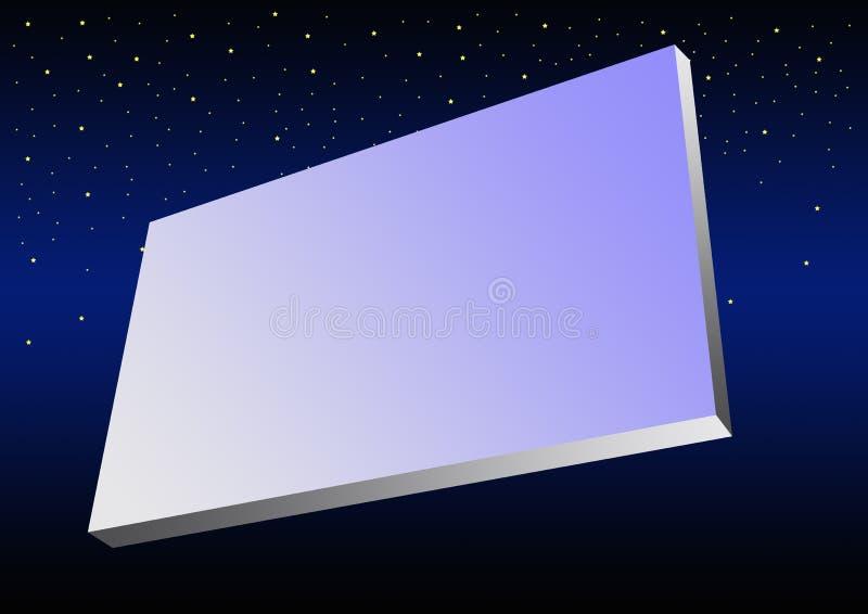 Quadro de avisos no espaço ilustração stock