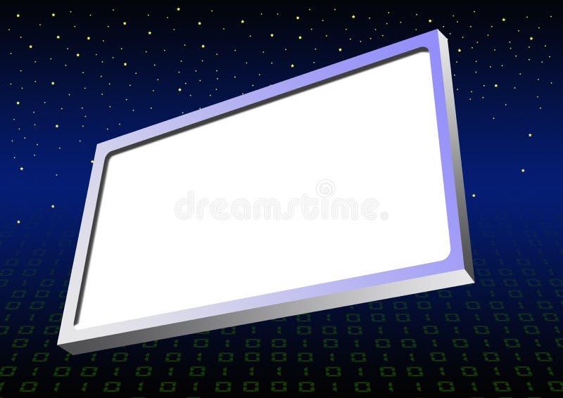Quadro de avisos no espaço binário ilustração royalty free