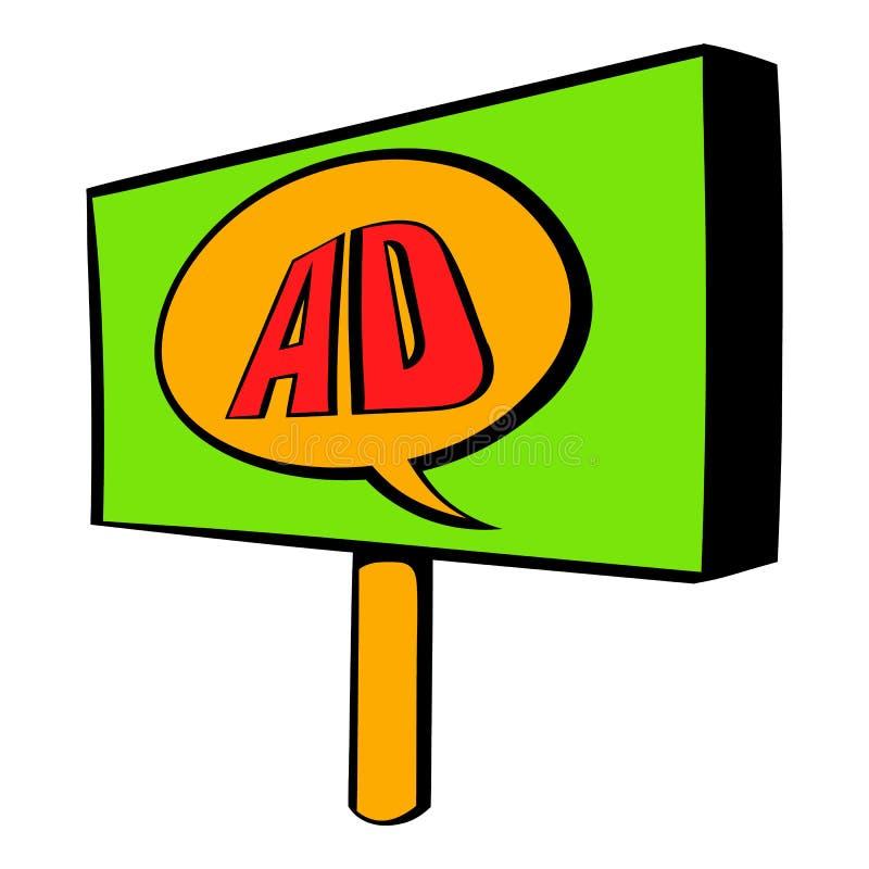Quadro de avisos para anunciar desenhos animados do ícone ilustração stock