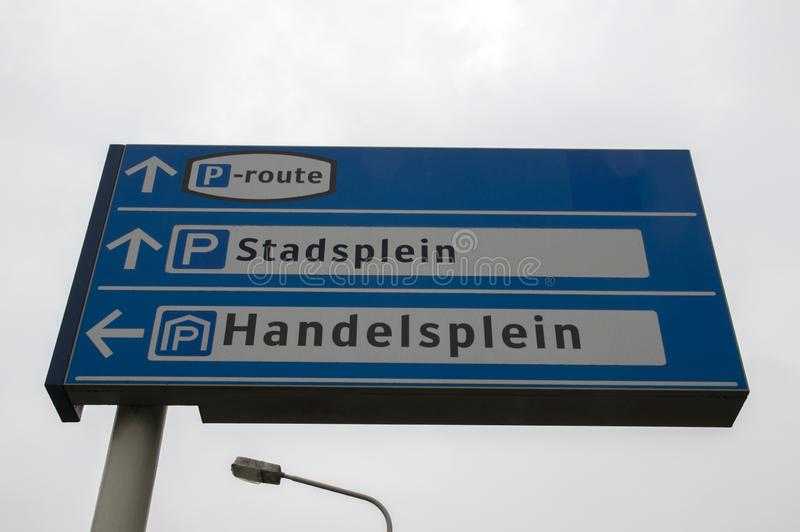 Quadro de avisos Stadsplein e Handelsplein em Amstelveen os Países Baixos 2019 imagem de stock royalty free