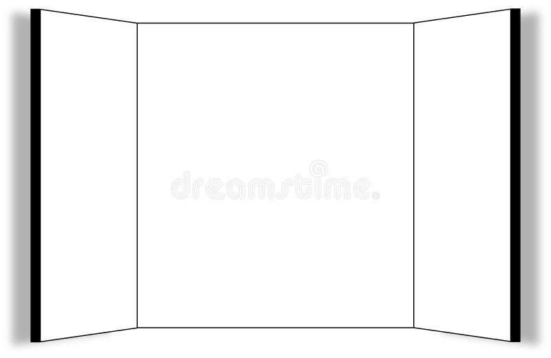 Quadro de avisos Threepart no branco ilustração stock