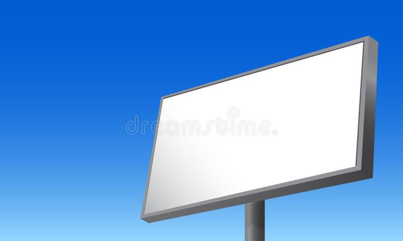Quadro de avisos vazio que anuncia a ilustração azul do vetor do fundo ilustração do vetor