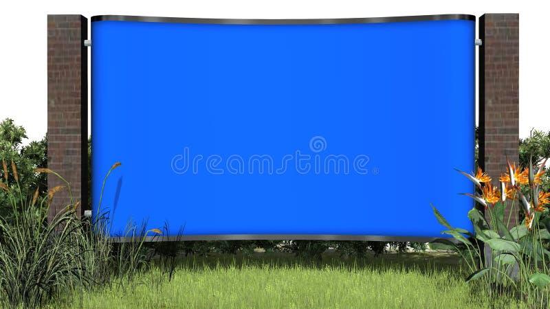 Quadro de avisos vazio - tela azul ilustração do vetor